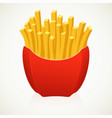 large french fries on white background vector image