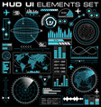 set of futuristic graphic user interface hud vector image