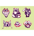 set of Owl vector image