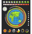 The Earth and infographic elements vector image