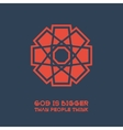 Asian Religious Poster with Buddha Quote vector image