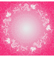 Pink floral lacy spring frame vector image