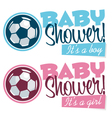Soccer Baby Shower Banners vector image vector image