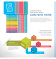 Modern graph design or infographic design template vector image