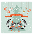 cute raccoons  greeting card vector image