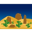 Cactuses in desert vector image