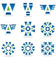Logo all sales blue abstract symbol vector image