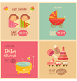 baby posters vector image vector image