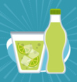 Drinks with her own glasses design vector image