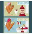 ice cream cafe cartoon vector image