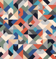 Retro colored seamless geometric background vector image