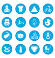 baby icon blue vector image