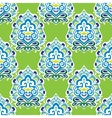 Damask green abstract seamless pattern vector image