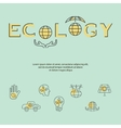 Ecology and Environment Business template vector image