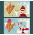 ice cream cafe cartoon vector image