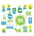 icons on environment and alternative energy vector image