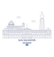 san salvador city skyline vector image