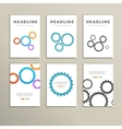 Set color design and concept gears vector image