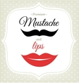 Set of mustache and lips Hipster style vector image