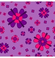 Violet flowers with bows seamless pattern vector image