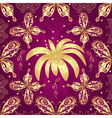 Floral purple seamless pattern vector image