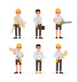 carpenter foreman engineer joiner and vector image vector image