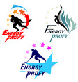 logos hockey theme vector image