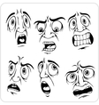 Frightened expression - set vector image vector image