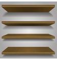 wood bookshelf design vector image vector image