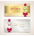 Gift certificates set vector image