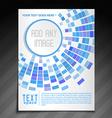 stylish mosaic brochure vector image