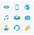 Modern flat social icons set on White vector image