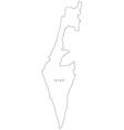 Black White Israel Outline Map vector image vector image