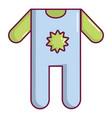 baby boy clothes icon cartoon style vector image