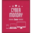 computer laptop smartphone and cyber monday design vector image
