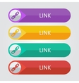 flat buttons link vector image