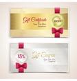 Gift certificates set vector image