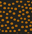 halloween pumpkin pattern seamless holiday vector image