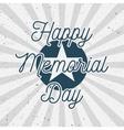 Happy Memorial Day USA vintage Background vector image