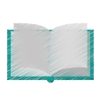 Isolated book object design vector image