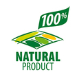 logo garden beds for 100 natural products vector image