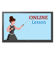 online education design concept with lecturer vector image