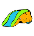 Playground slide icon icon cartoon vector image