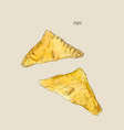 puff or pie pastry hand drawn sketch water color vector image