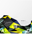 triangle mosaic abstract template vector image