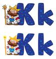 letter K king vector image