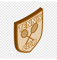 tennis club shield isometric icon vector image