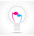 Blue and pink fish make filament of a bulb vector image