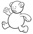running bear coloring page vector image vector image