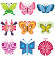 logo icons butterfly vector image vector image